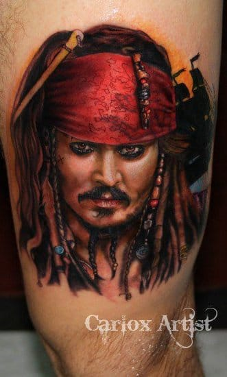 Great Jack Sparrow portrait by Carlox Angarita.