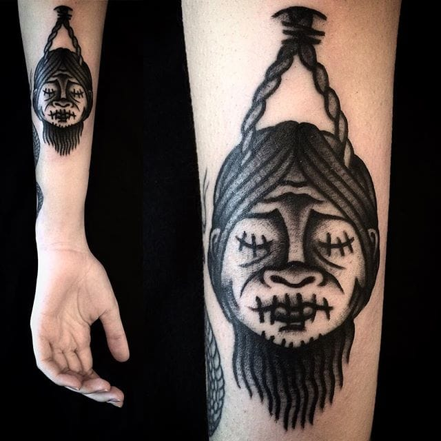 8 Freaky Shrunken Head Tattoos