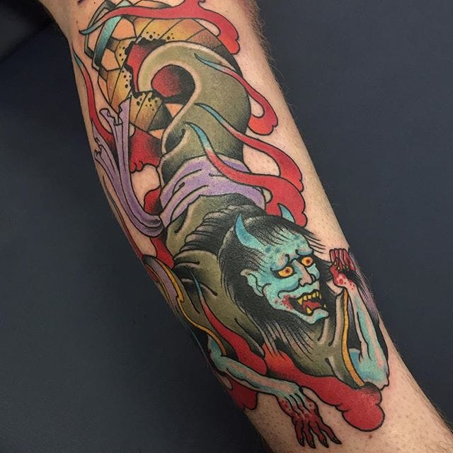Yurei Tattoo by Vincent Penning