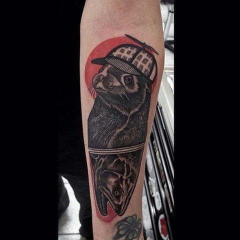 Seal Tattoo by Hannah Wilson