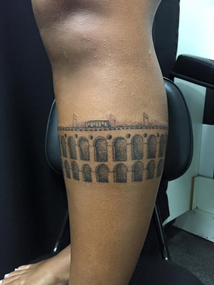 Arcos da Lapa em pontilhismo