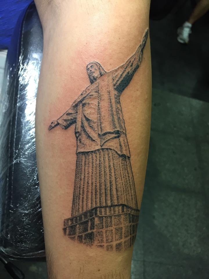 Cristo Redentor em pontilhismo