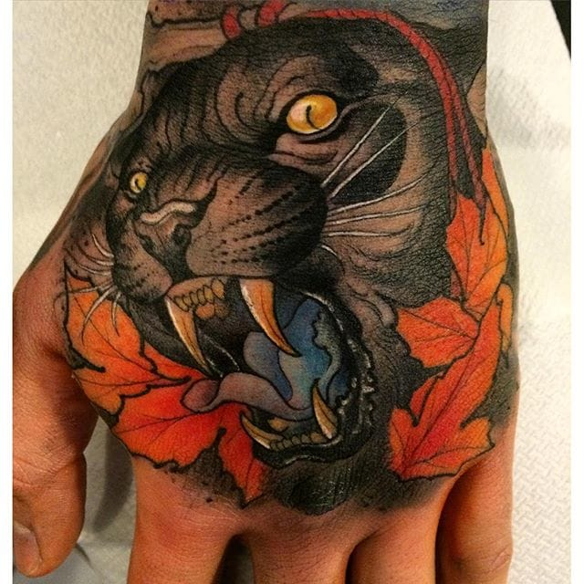 10 Fearless Neo-Traditional Panther Tattoos