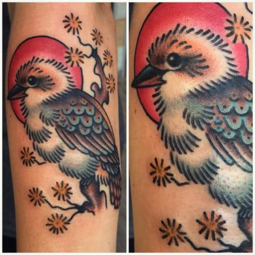 Kookaburra Tattoo, artist unknown