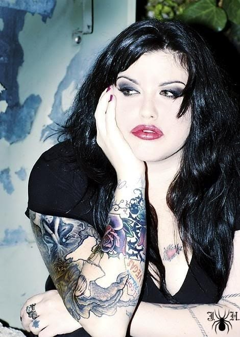 Mia Tyler is a stunning plus size model with killer ink... oh and also the daughter of Aerosmith's frontman Steven Tyler