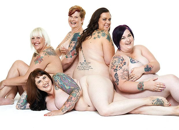 These real curvy ladies bare their tattoos and their confidence showing every body is beautiful...and don't forget it!