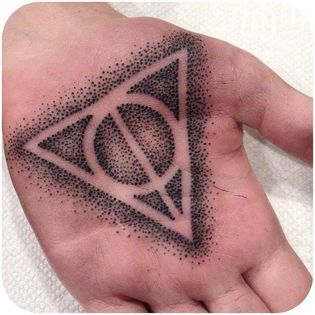Dotwork Deathly Hallows made by @butterstinker