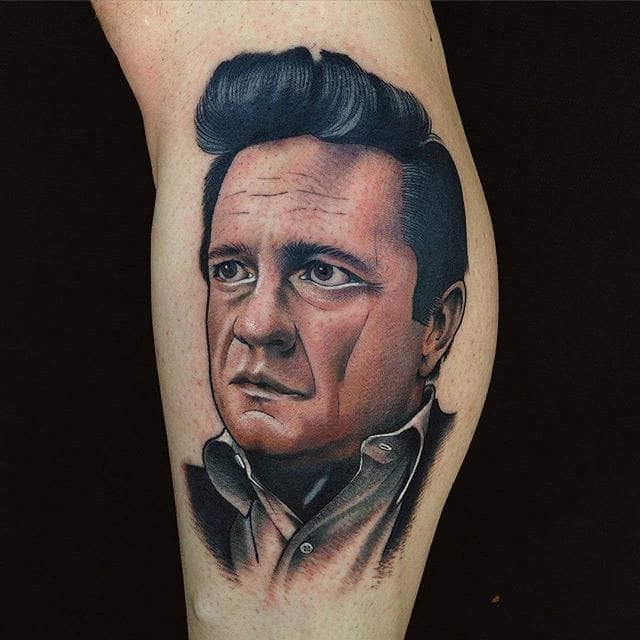 Johnny Cash Tattoo by Josh Todaro