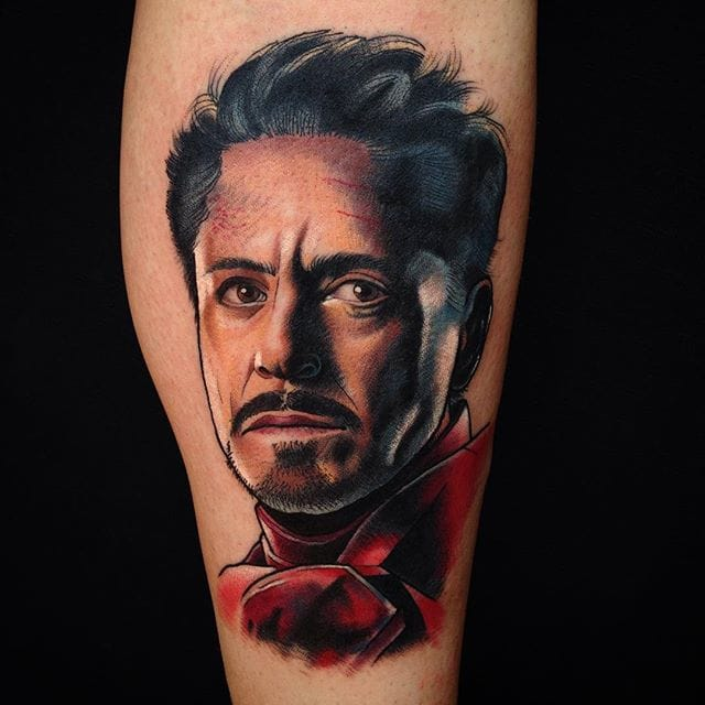 Tony Stark Tattoo by Josh Todaro
