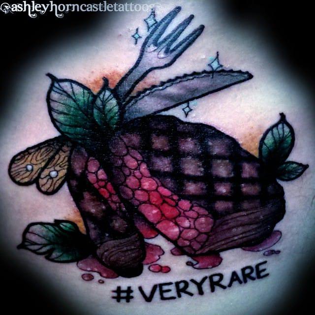 Steak Tattoo by Ashley Horncastle
