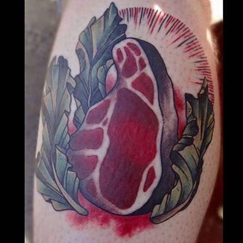 Steak Tattoo by Toni-Lou