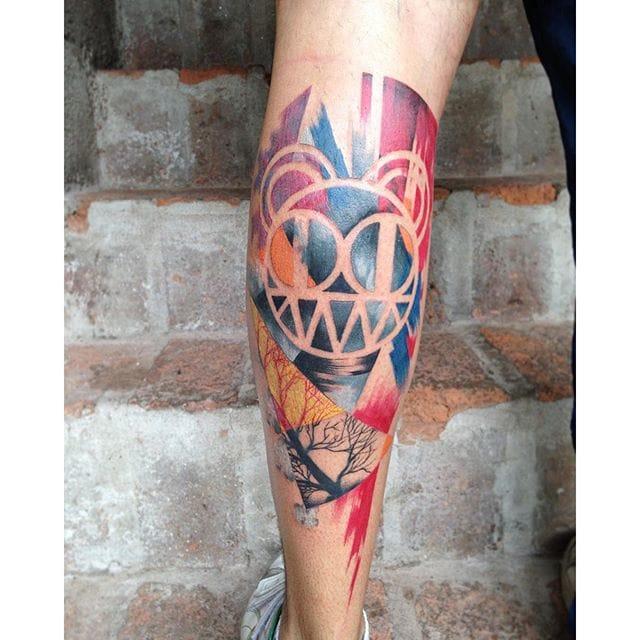 Radiohead tattoo by Elcuero Miller