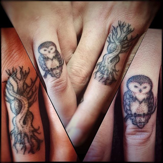 Let's get symbolic. Nature is full of gorgeous relationships. Here, the deep link between the owl and its tree. What is your significant other meaning for you? Via Habba Nero.