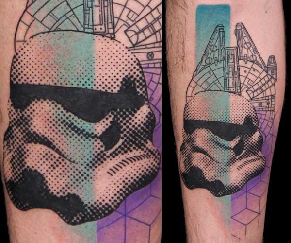 Awesome Star Wars tattoo by his accomplice Emilie B!