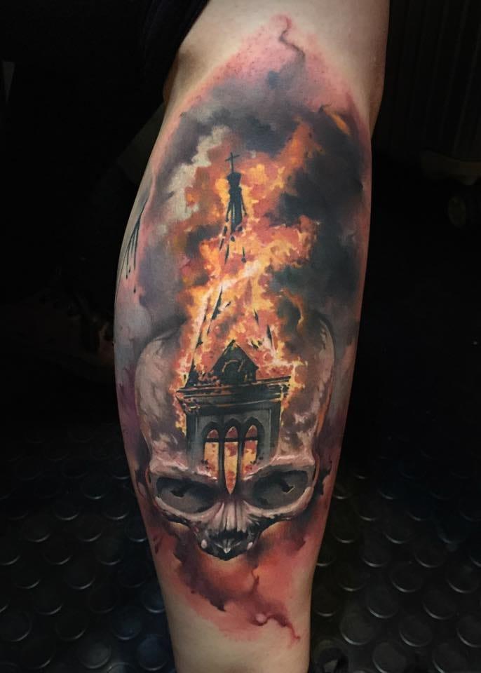 15 Dramatic Church Tattoos