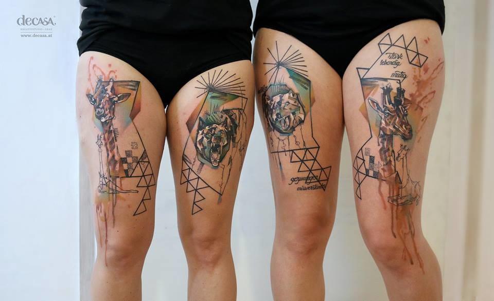 The Artsy Tattoos Of Carola Deutsch