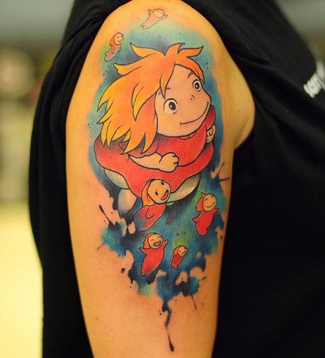 Awesome Ponyo tattoo!