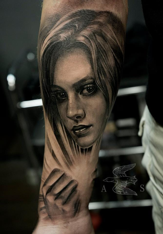 Magical portrait tattoo