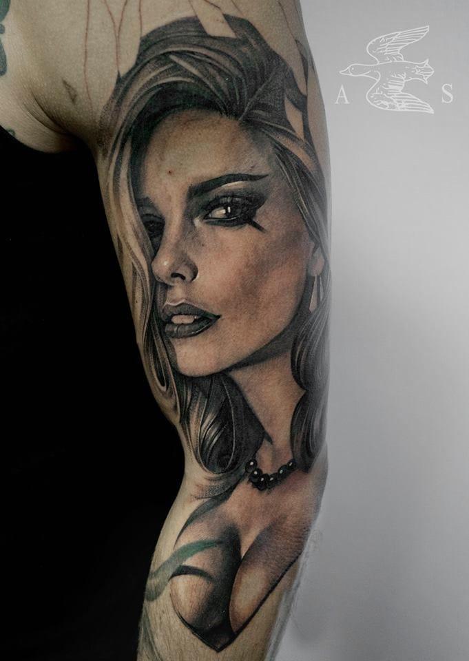 Refined lady tattoo