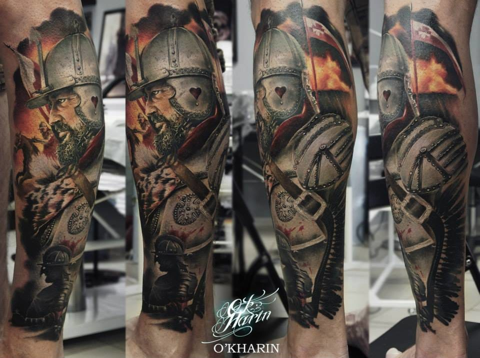 Awesome warrior tattoo