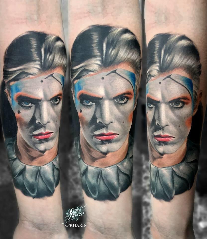 Gorgeous David Bowie tribute tattoo
