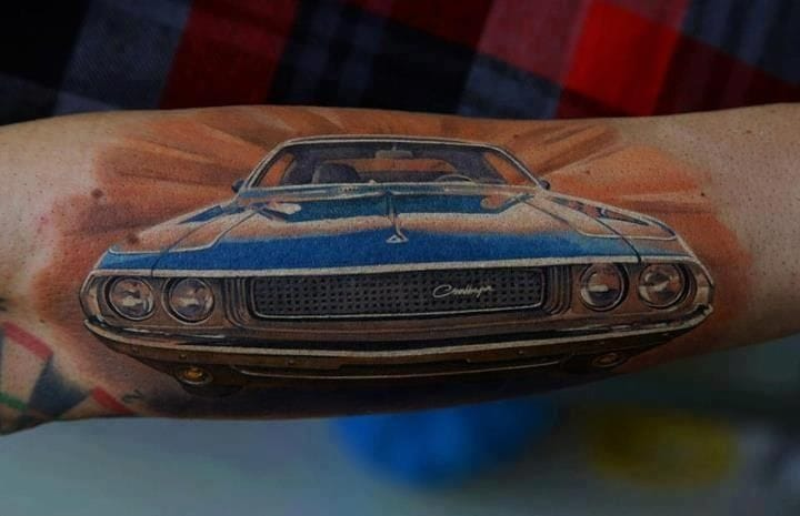 It was in 1901 when the first Grand Prix race was won at 46mph! Tattoo by Dmitriy Samohin.