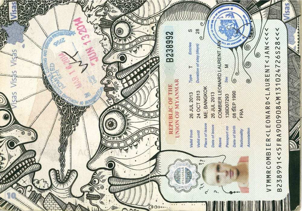 Artist Leonard Combier's Tattooed Passports Are Awesome!!