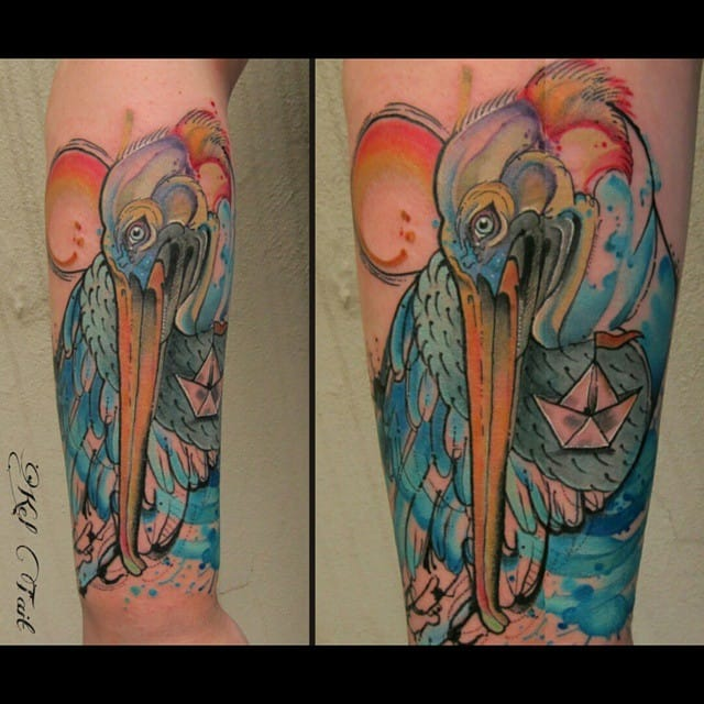 Colorful piece by Kel Tait.