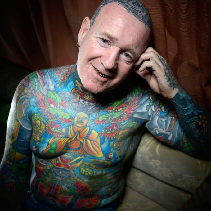 Tony's tattoos are all Oriental influenced