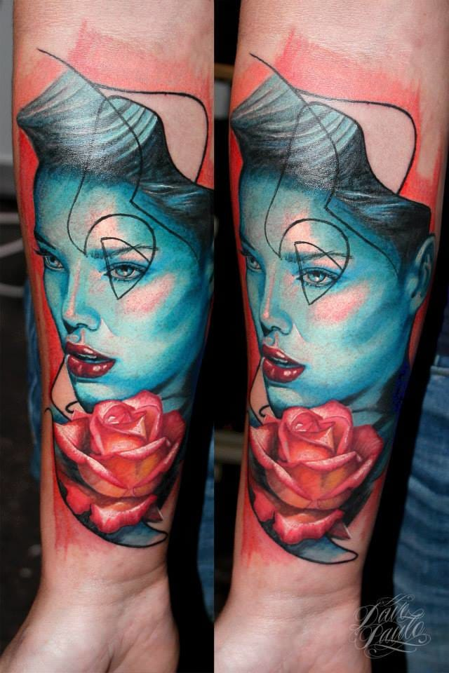 Blue girl. #DavePaulo