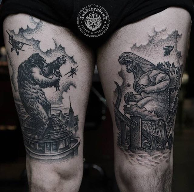 Epic King Kong vs Godzilla pieces! #DanielBaczewski