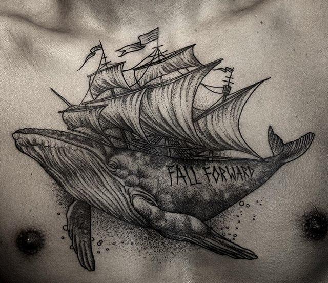 Poetic whale tattoo #DanielBaczewski