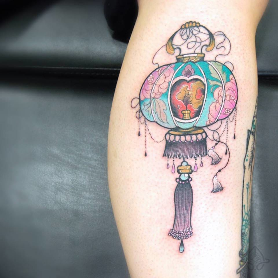 Exquisite tattoo by Anaïs Allnt...