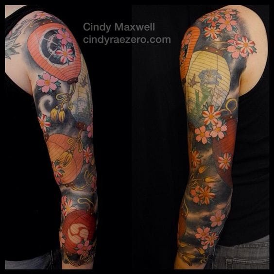 Full sleeve by Cindy Maxwell.
