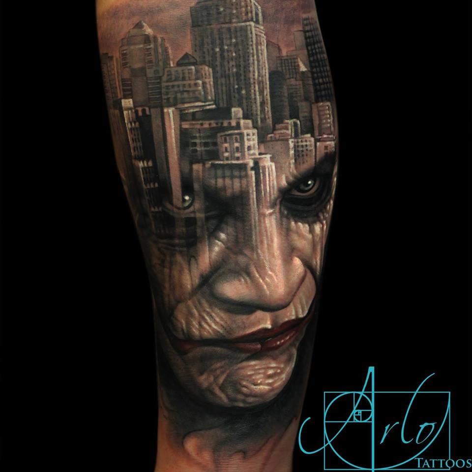 Impressive Face Morph Tattoos By Arlo Di Cristina