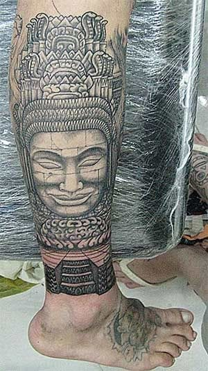 Bayon statues are indeed coveted for Angkor tattoos. Please credit.