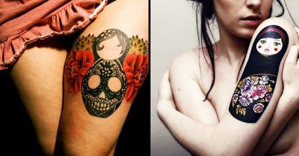 40 funky russian dolls tattoos tattoodo for Russian style tattoo