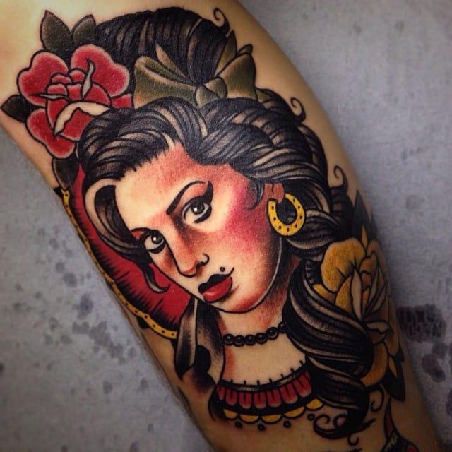 15 Groovy Amy Winehouse Tattoos | Tattoodo  15 Groovy Amy W...