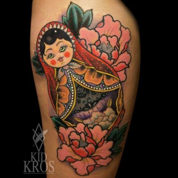 40 Funky Russian Dolls Tattoos