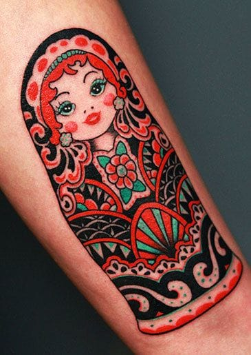 40 funky russian dolls tattoos tattoodo. Black Bedroom Furniture Sets. Home Design Ideas