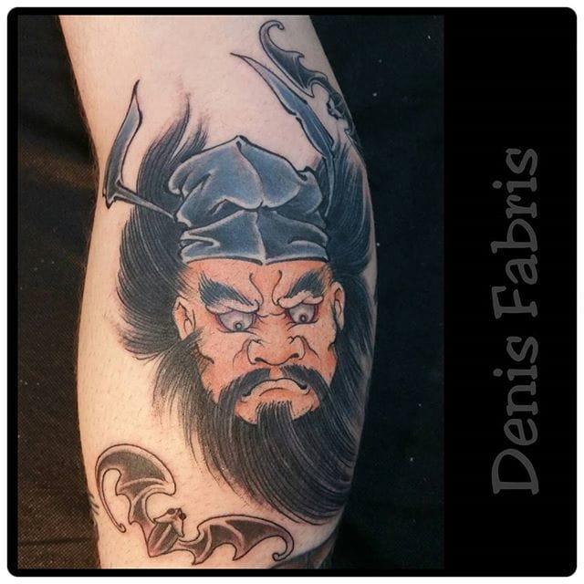 Zhong Kui Tattoo by Denis Fabris
