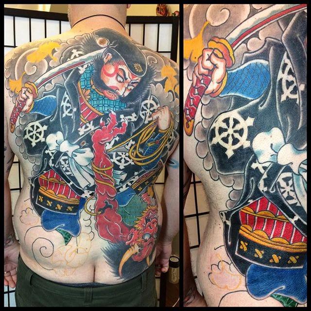 Zhong Kui Tattoo by Jason Lambert