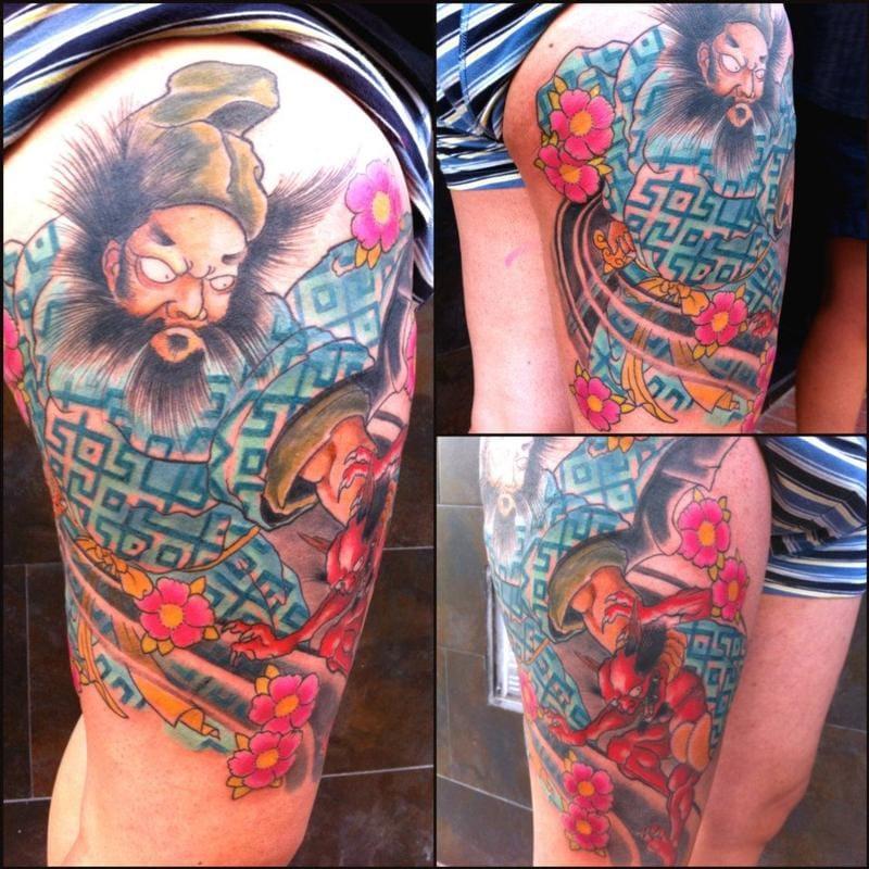 Zhong Kui Tattoo by Jose Gonzalez