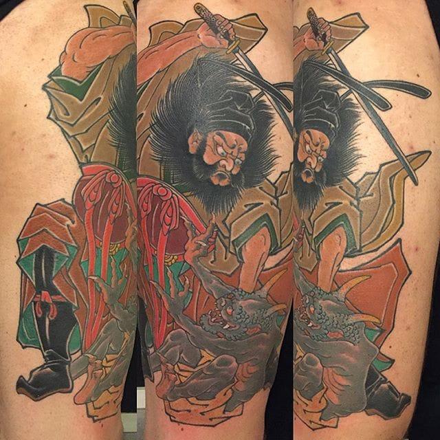 Zhong Kui Tattoo by Sándor Jordan