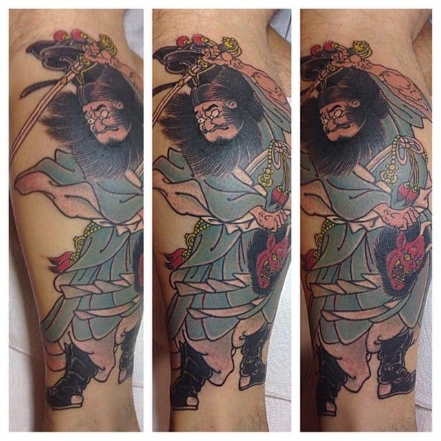 Zhong Kui Tattoo by Scotty Kelly