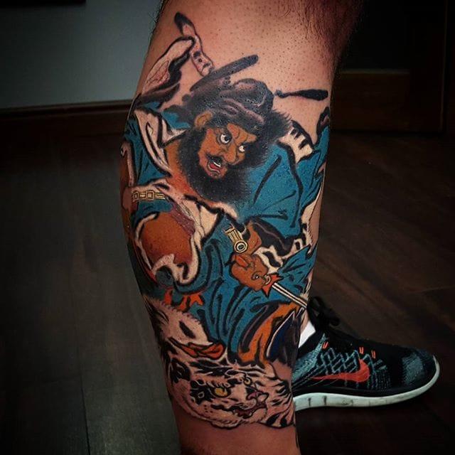 Zhong Kui Tattoo by Sean Drumm