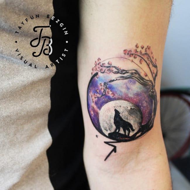 Wolf tattoo by #TayfunBezgin