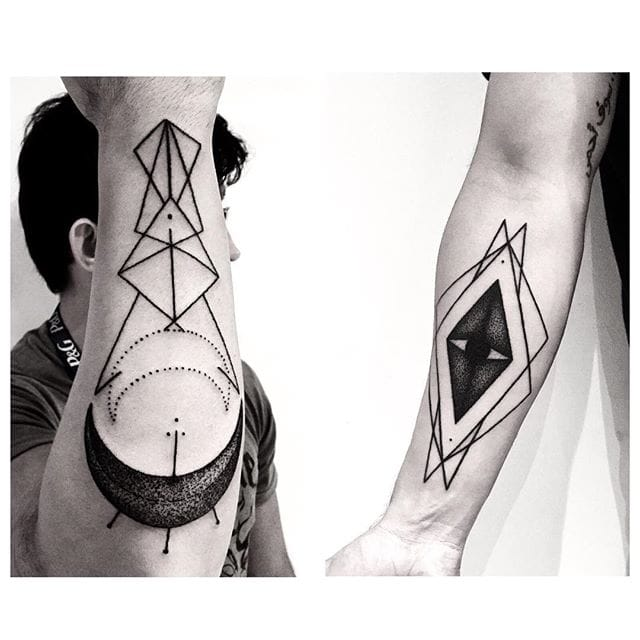 Awesome forearm geometric tattoos  #errancetattoos
