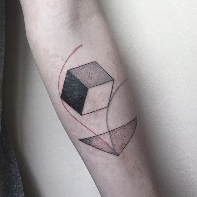 Geometric minimal tattoo #errancetattoos