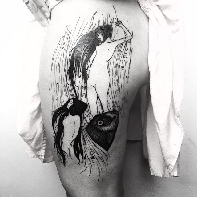 Cool thigh tattoo #errancetattoos